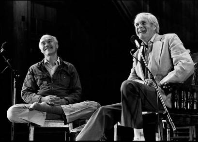 Richard Alpert and Timothy Leary at an early 1960's Harvard Conference.